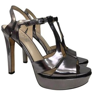 KORS BY MICHAEL KORS 9.5 Gunmetal Platform Sandals